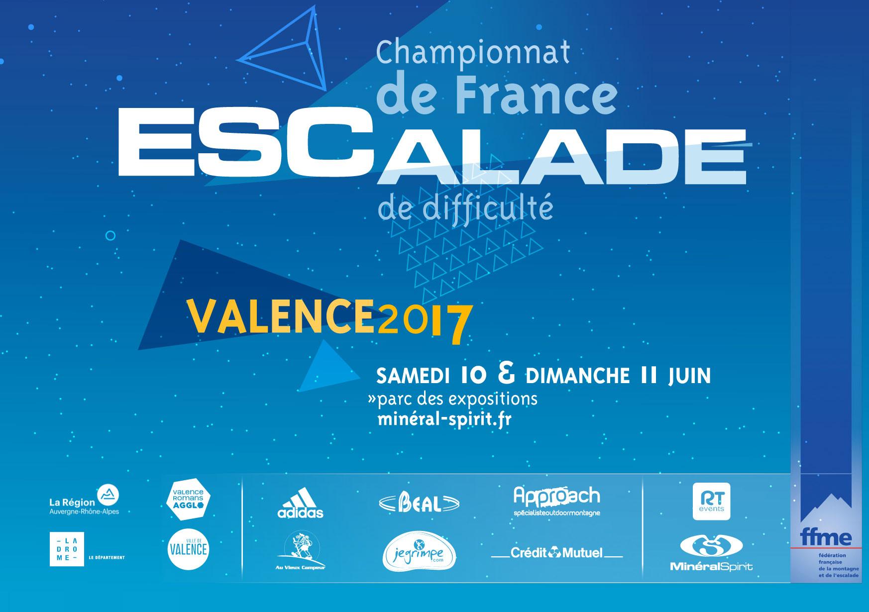 Championnats de France d'escalade de difficulté - Valence 2017