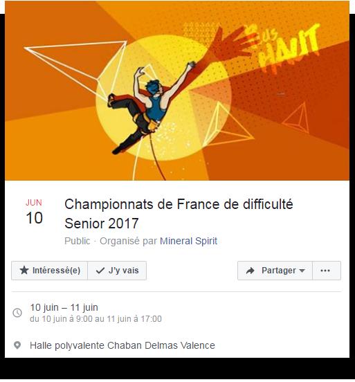 Championnats de France de difficulté Senior 2017